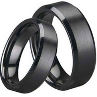 (Wholesale)Black Tungsten Carbide Ring - TG1645