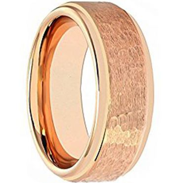 (Wholesale)Tungsten Carbide Hammered Ring - TG1877AA