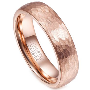 (Wholesale)Tungsten Carbide Hammered Ring - TG2158