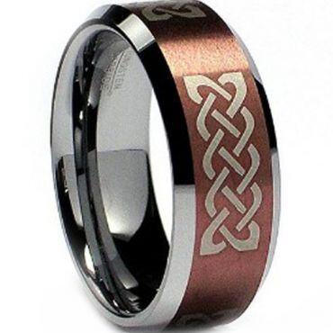 (Wholesale)Tungsten Carbide Beveled Edges Ring - TG2293