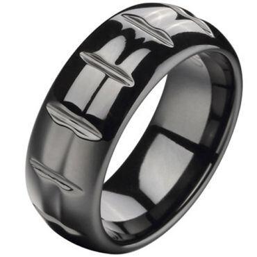 (Wholesale)Black Tungsten Carbide Ring - TG24