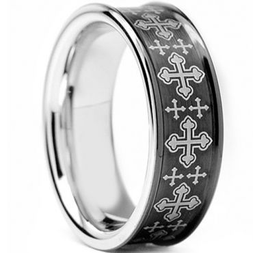 (Wholesale)Tungsten Carbide Concave Cross Ring - TG2525