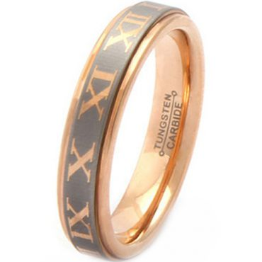 (Wholesale)Tungsten Carbide Ring With Roman Numeral - TG2528