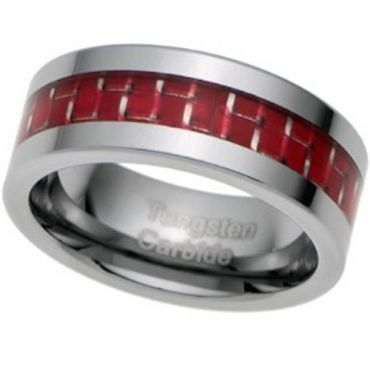 (Wholesale)Tungsten Carbide Ring With Carbon Fiber-TG2538