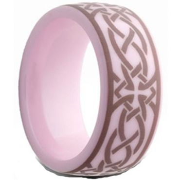 (Wholesale)Pink Ceramic Ring - TG2559AA