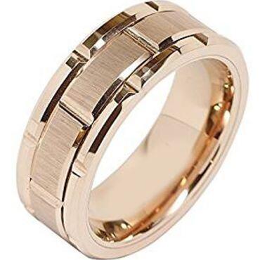 (Wholesale)Tungsten Carbide Brick Pattern Ring - TG2607AA