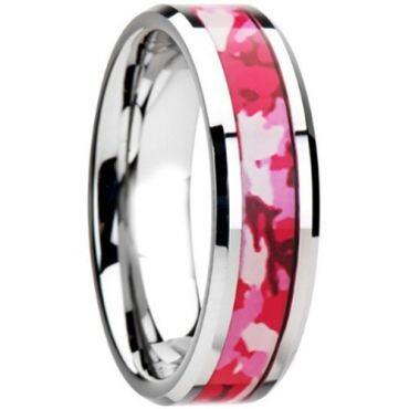 (Wholesale)Tungsten Carbide Camo Ring - TG2613