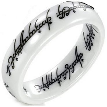 (Wholesale)White Ceramic Lord of The Ring - TG2755