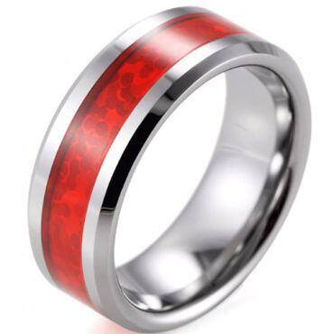 (Wholesale)Tungsten Carbide Imitate Opal Ring - TG2879