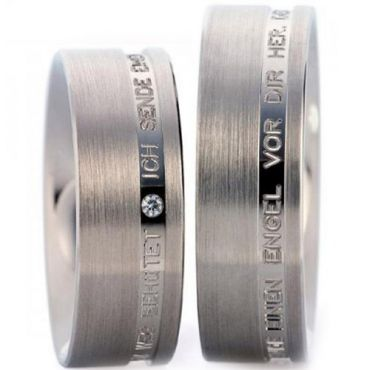 (Wholesale)Tungsten Carbide Ring With Custom Engraving - TG2879