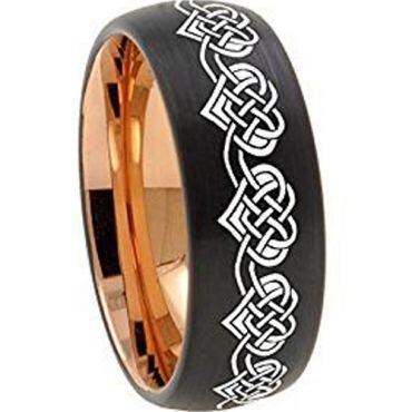 (Wholesale)Tungsten Carbide Black Rose Heart Ring - 2907