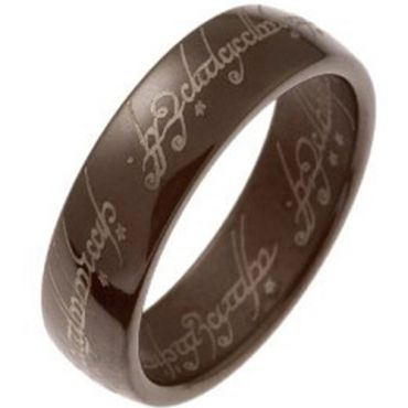 (Wholesale)Tungsten Carbide Espresso Dome Lord of The Ring-2968