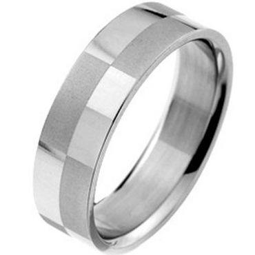 (Wholesale)Tungsten Carbide Checkered Flag Pipe Cut Ring - TG2969