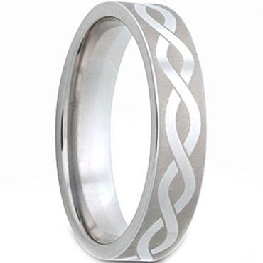 (Wholesale)Tungsten Carbide Infinity Pipe Cut Ring - TG2978