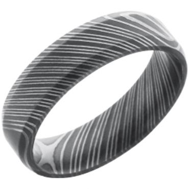 (Wholesale)Black Tungsten Carbide Damascus Ring - TG2991C