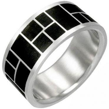 (Wholesale)Tungsten Carbide Checkered Flag Ring-TG2998
