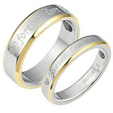 (Wholesale)Tungsten Carbide Forever Love Ring - TG3011