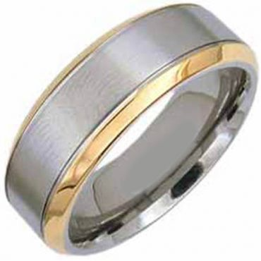 (Wholesale)Tungsten Carbide Beveled Edges Ring - TG3029