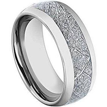 (Wholesale)Tungsten Carbide Imitate Meteorite Ring-TG3198