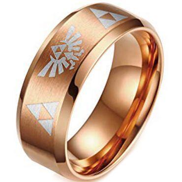 (Wholesale)Tungsten Carbide Legend of Zelda Ring-3199