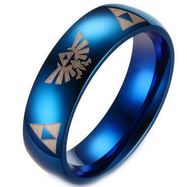 (Wholesale)Tungsten Carbide Legend of Zelda Ring - TG3229