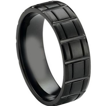 (Wholesale)Black Tungsten Carbide Ring-3276