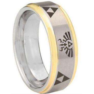 (Wholesale)Tungsten Carbide Legend of Zelda Ring-3321