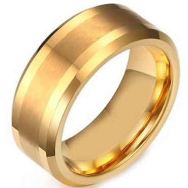 (Wholesale)Tungsten Carbide Beveled Edges Ring - TG3364AA