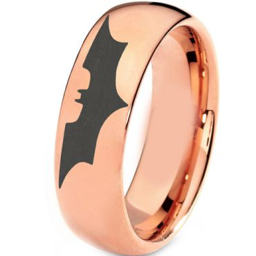 (Wholesale)Tungsten Carbide Batman Dome Ring - TG3382