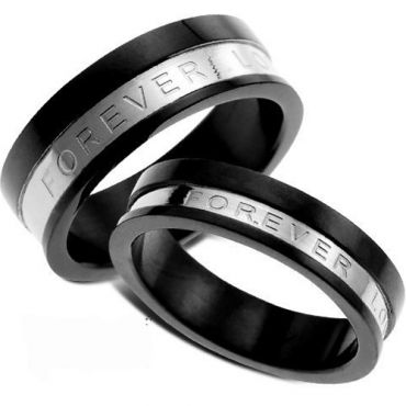 (Wholesale)Tungsten Carbide Forever Love Ring - TG3490