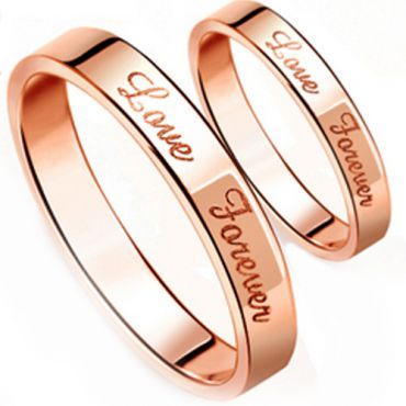 (Wholesale)Tungsten Carbide Love Forever Ring - TG3501