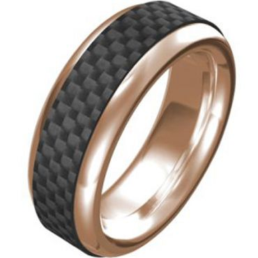 (Wholesale)Tungsten Carbide Ring With Carbon Fiber-TG3549A