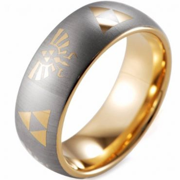 (Wholesale)Tungsten Carbide Legend of Zelda Ring - TG3564