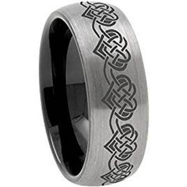 (Wholesale)Tungsten Carbide Dome Heart Ring - 3640