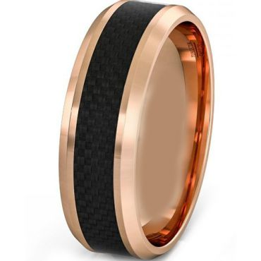 (Wholesale)Tungsten Carbide Ring With Carbon Fiber - TG3786AA