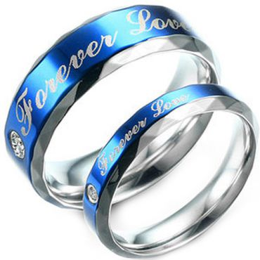 (Wholesale)Tungsten Carbide Forever Love Faceted Ring - TG3804