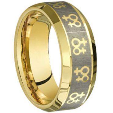 (Wholesale)Tungsten Carbide Beveled Edges Ring - TG3863