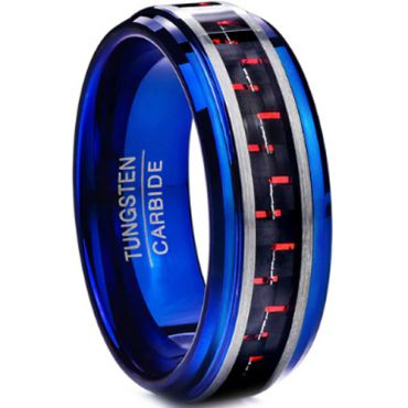(Wholesale)Tungsten Carbide Ring With Carbon Fiber-TG4024