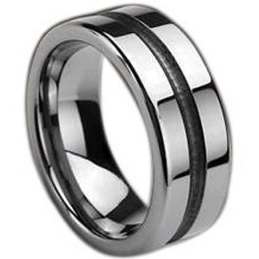(Wholesale)Tungsten Carbide Center Groove Ring - TG389
