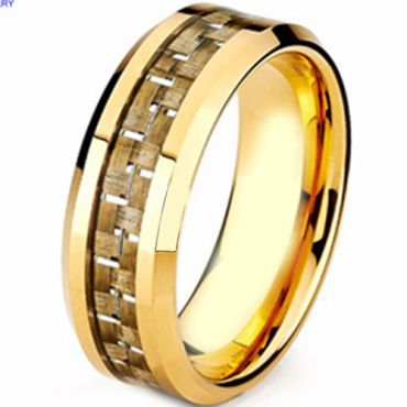 (Wholesale)Tungsten Carbide Ring With Carbon Fiber - TG3971AA