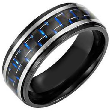 (Wholesale)Tungsten Carbide Ring With Carbon Fiber-TG4008