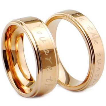 (Wholesale)Tungsten Carbide Ring With Custom Engraving - TG4028