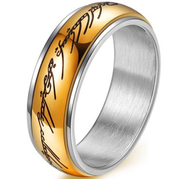 (Wholesale)Tungsten Carbide Lord of the Ring Ring - TG4432