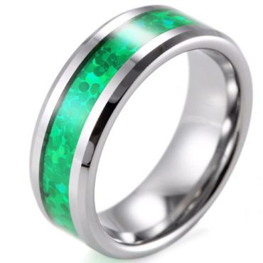 (Wholesale)Tungsten Carbide Imitate Opal Ring - TG4442B