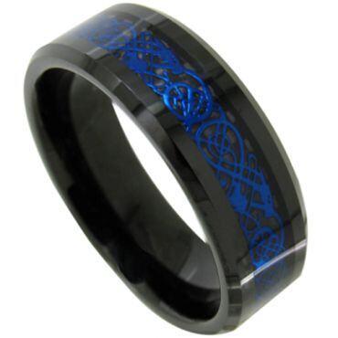 (Wholesale)Black Tungsten Carbide Dragon Ring-TG4487