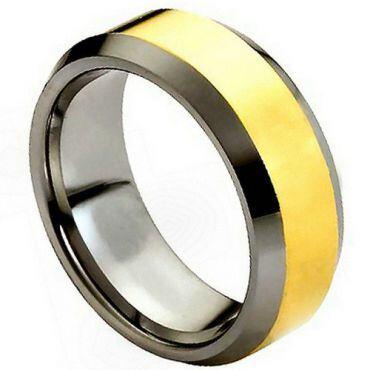 (Wholesale)Tungsten Carbide Beveled Edges Ring - TG4491