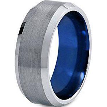 (Wholesale)Tungsten Carbide Beveled Edges Ring - TG4518