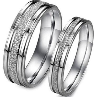 (Wholesale)Tungsten Carbide Sandblasted Ring - TG4571