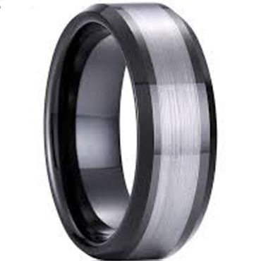 (Wholesale)Tungsten Carbide Center Line Ring - TG4576