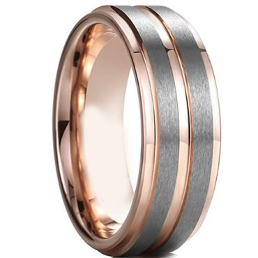 (Wholesale)Tungsten Carbide Center Groove Ring - TG4597